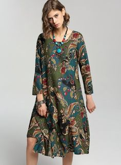 Shop Floryday for affordable Dresses. Floryday offers latest ladies' Dresses collections to fit every occasion. Vestidos Vintage, Vintage Dresses, Hijab Fashion, Boho Fashion, Fashion Outfits, Womens Fashion, Hijab Stile, Bohemian Mode, Advanced Style