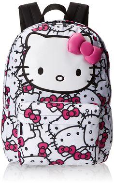 Hello Kitty SANBK0166 Backpack, Fuchsia/White, One Size