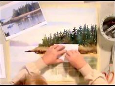 Clean Magic Eraser to make additions to your watercolor painting. Watercolor Painting Techniques, Watercolor Video, Watercolor Effects, Watercolour Tutorials, Painting Videos, Painting Lessons, Watercolor Landscape, Watercolour Painting, Art Lessons