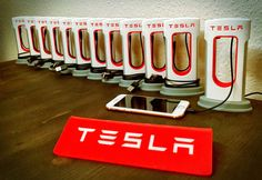 Tesla Supercharger for Phones A must-have for every TESLA Enthusiast Charging cable for your Smartphone that looks like the original Tesla Supercharger Ready-to-charge and preassembled with Micro-USB / USB-C / Apple Lightning cable 3D-printed and very realistic Worldwide shipping is no problem - you can see the shipping costs attached. # LIMITED SPECIAL OFFER: Order 2 Smartphone Supercharger and get a TESLA acrylic sign for free! # Delivery time to the US is approx. 10 working days....