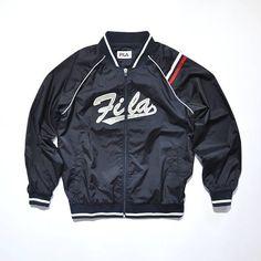 Vintage FILA Jacket // FILA Bomber Jacket // FILA Varsity // 90s Fashion Outfits // Retro Streetwear // Windbreaker // Oldschool // men // women // unisex // Rare Clothing Clothes Items // varsity// bomber// style // etsy