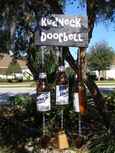 REDNECK GIFT IDEAS   hanging redneck beer can door bell ...