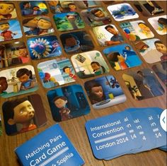 Been making Caleb and Sophia matching pairs game for international delegates coming to London. ♥•.¸¸.•♥   JW.org has the Bible and bible based study aids to read, watch, listen and download in 300+ (sign included) languages. They also offer free in home bible studies.  All at no charge.