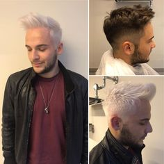 """10 Me gusta, 3 comentarios - Veronica Epi (@veronica.epi) en Instagram: """"White man with white hair @_andre_bianchi color by me haircut by @twilborg #whitehair #again…"""""""