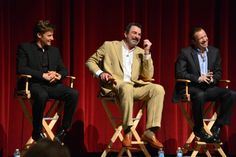 BLUE BLOODS stars (l-r) Will Estes, Tom Selleck, and Donnie Wahlberg at a special screening and discussion at the Leonard H. Goldenson Theatre on June 5, 2012 in Los Angeles. Photo: Eric McCandless/CBS ©2012 CBS Broadcasting Inc.