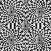 When the Rotating Snakes illusion is presented in grayscale, most people still perceive motion, but less than in the original color version....