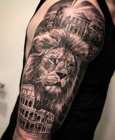 Lion Forearm Tattoos, Lion Head Tattoos, Mens Lion Tattoo, Forarm Tattoos, Eagle Tattoos, Arm Tattoos For Guys, Lion Tattoo Sleeves, Sleeve Tattoos, Tattoo Sleeve Designs