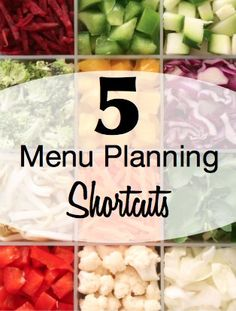 Learn how to save even more time and money each week with these menu planning shortcuts!