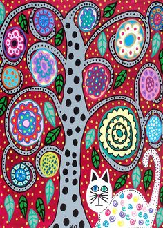 Check out this item in my Etsy shop https://www.etsy.com/listing/93757703/ambrosino-art-print-mexican-folk-art-red