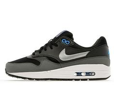 detailed look d71cd 1cee0 Mens Classic Running Shoes Nike Air Max 1 Black Silver White discount sale