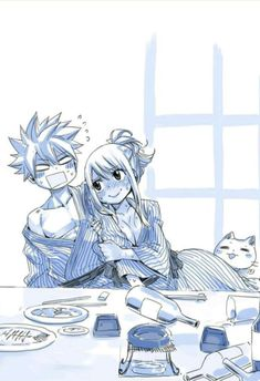 Natsu & Lucy Nalu by Hiro Mashima Natsu Fairy Tail, Fairy Tail Lucy, Fairy Tail Ships, Fairy Tail Amour, Art Fairy Tail, Image Fairy Tail, Fairy Tail Comics, Fairy Tail Guild, Fairy Tales