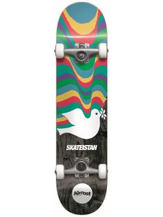 Almost Skateistan Dove First Push Complete Skateboard MINI (Pre-Order) Almost Skateboards, Complete Skateboards, Skateboard Decks, Mini, Skateboards, Skate Board