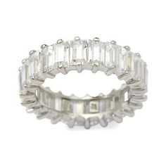 4.35 ct. t.w. CZ Eternity Band Ring in Sterling Silver. A glistening ring of timeless sparkle. #valentinesday #love Click on the ring to see similar styles.