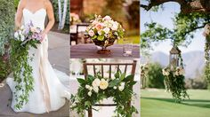Wedding Flower Trends: Hanging Garland and Cascade Bouquets « The Knot