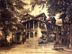 This undated vintage photo supplied by the Pejepscot Historical Society shows the house in Brunswick, Maine, where Joshua Chamberlain lived. The house at 226 Maine St. is now a museum operated by the Pejepscot Historical Society. Vacation Places, Places To Travel, Joshua Chamberlain, Brunswick Maine, Photo Supplies, American Civil War, American History, Civil War Photos, Gettysburg