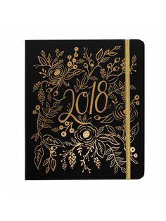 Rifle Paper Co 2018 floral foil planner – Papermash