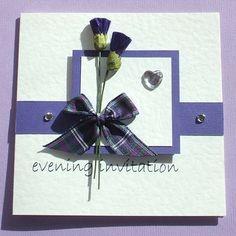 purple tartan invite