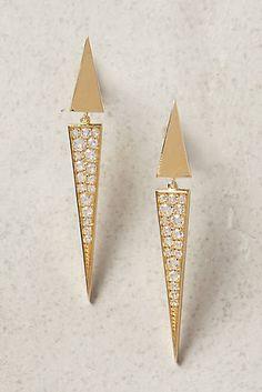 Elizabeth and James Itten Pave Earrings #anthropologie