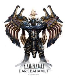 Bahamut which can be found from a lot of the Final Fantasy games as it is a staple, well known Summon. It is a dragon type Summon with a non elemental theme.