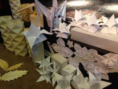 Origami Shapes, Table Lamp, Paper, Home Decor, Table Lamps, Decoration Home, Room Decor, Home Interior Design, Lamp Table