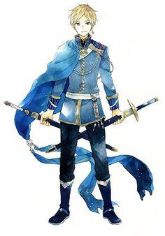 Zen: holding Kiki's and Mitsuhide's swords!!