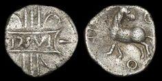 Celtic Iron Age Coins - Catuvellauni - Tasciovanus - Stag Silver Unit