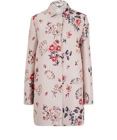 Stella McCartney Light Pink Wildflower Print Jacquard Coat