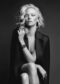 b+w charlize.. This woman is a Goddess! Such Beauty & Elegance! STUNNING!!!