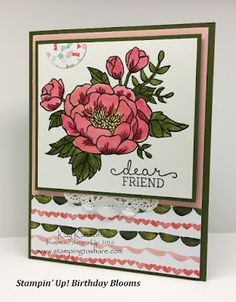 Stamping to Share: Birthday Blooms with Birthday Bouquet Designer Series Paper Plus How To Video
