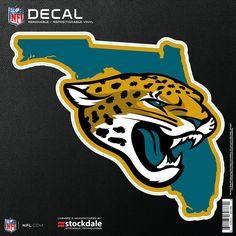 Jacksonville Jaguars x Repositionable State Shape Decal Nfl Redzone, Nfl Football, Jacksonville Jaguars Logo, Nfl Team Colors, Water Logo, Nfl Shop, Tennessee Titans, Car Magnets, Washington Redskins