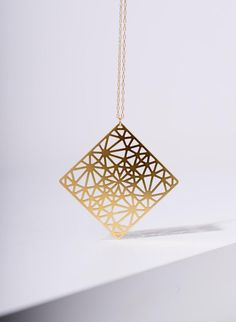 rhombus necklace, statement jewelry, womens jewelry, Gold plated jewellery MIZYAN's gold plated rhombus necklace, statement Statement Jewelry, Gold Jewelry, Women Jewelry, Fine Jewelry, Fashion Jewelry, Etsy Jewelry, Luxury Jewelry, Bridal Jewelry, Geometric Necklace