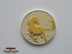 British Silver Lunar Horse, 2014 1 oz Gold Gilded Fine Silver Coin Bullion Listing in the Silver Bullion,Bullion & Bars,Coins & Banknotes Category on eBid United Kingdom