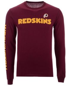 Authentic Nfl Apparel Men s Washington Redskins Streak Route Long Sleeve T- Shirt - Red XXL 425bf930a