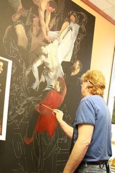 painting: www.keithmartinjohns.com Fine Art, Painting, Painting Art, Paintings, Paint, Draw, Visual Arts