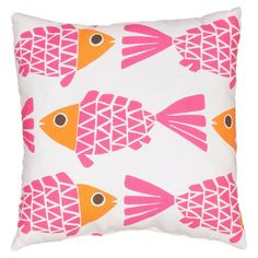 Jaipur Fish Polyester Indoor / Outdoor Decorative Pillow - PLW102031_P