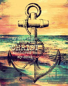 Anchor in Christ Religious Faith Nautical Decor Product