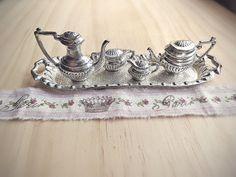 Vintage Victorian Tea Set Gorgeous Miniature Silver by stephmelart, $32.00