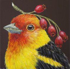 Vicki Sawyer Birds Painting, Animal Art, Whimsical Art, Illustration Art, Art, Animal Illustration, Animal Paintings, Bird Art, Pictures To Paint