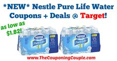 WOOHOO!! TWO NEW Nestle Pure Life Water Coupons!!! Makes for great deals at Target! *NEW* Nestle Pure Life Water Coupons + Deals @ Target!  Click the link below to get all of the details ► http://www.thecouponingcouple.com/new-nestle-pure-life-water-coupons-deals-target/ #Coupons #Couponing #CouponCommunity  Visit us at http://www.thecouponingcouple.com for more great posts!