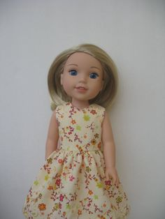 Clothes for American girl Wellie Wishers 14.5 Doll Dress by Pachom