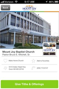 Mount Joy Baptist Church in Oxon Hill, Maryland #GivelifyChurches