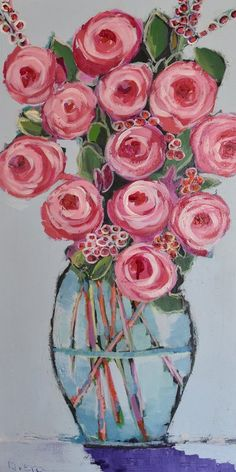Marmont Hill 'Tall Bouquet' by Michelle Rivera Painting Print on Wrapped Canvas Oil Painting On Canvas, Canvas Art Prints, Painting Prints, Watercolor Paintings, Acrylic Flowers, Abstract Flowers, Acrylic Art, Deco Floral, Whimsical Art