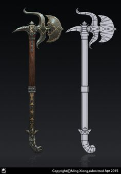 ArtStation - 3d hand painting weapons, jack Ming
