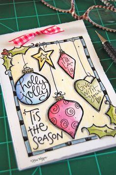 inspiration monday - Christmas notepad printable