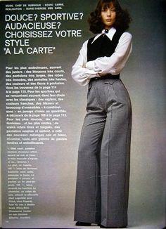 Karl Lagerfeld for Chloe, Elle, March 1972.