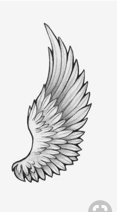 M Tattoos, Tattoo Drawings, Small Tattoos, Sleeve Tattoos, Tattoos For Guys, Wings Drawing, Wings Sketch, Wing Tattoo Designs, Tattoo Sleeve Designs