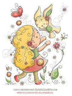 All Artwork Copyright Rachelle Anne Miller Creative Studios. Cute Images, Cute Pictures, Cute Clipart, Digi Stamps, Cute Illustration, Creative Studio, Cute Art, Doodles, Drawings