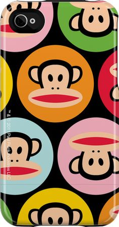 """Black Dots Julius"" iPhone 4/4S Capsule Case by Paul Frank http://www.getuncommon.com/collections/947/"