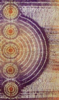 Techniques known as ori-nui, mokume and karamatsu shibori use stitches in the fabric to act as a resist for dyes. Unique effects can be created by the type of stitch, folds in the fabric and the ar…