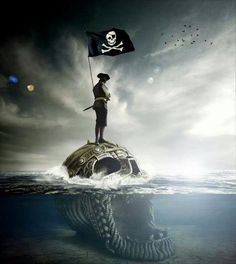 Jolly Roger Pirate Art, Pirate Life, Pirate Ships, Pirate Flags, Sea Of Thieves, Pirates Cove, Black Sails, Jolly Roger, Tall Ships